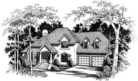 Colonial European House Plan 93406 Elevation