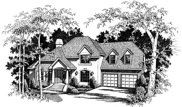 Colonial European House Plan 93406 Elevation