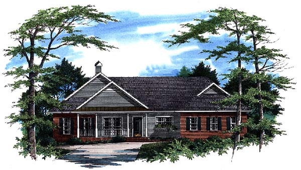 Ranch House Plan 93440 Elevation