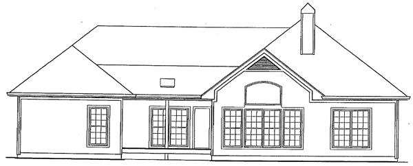 Ranch House Plan 93440 Rear Elevation