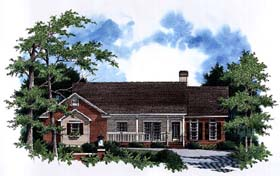 Ranch House Plan 93441 Elevation