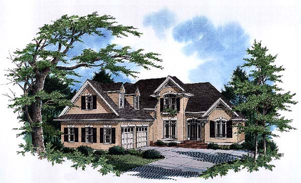 Country European House Plan 93442 Elevation