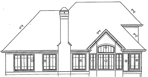 Country European House Plan 93442 Rear Elevation