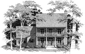 Country , Southern House Plan 93443 with 3 Beds, 3 Baths, 2 Car Garage Elevation