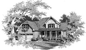 Farmhouse , European , Country House Plan 93444 with 4 Beds, 4 Baths, 2 Car Garage Elevation