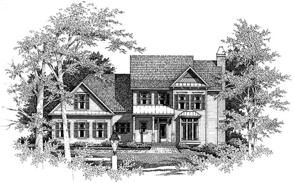 Country Farmhouse House Plan 93445 Elevation