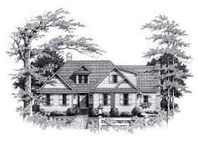 European House Plan 93462 Elevation