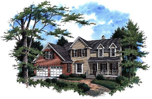 Country House Plan 93466 with 3 Beds, 3 Baths, 2 Car Garage Elevation