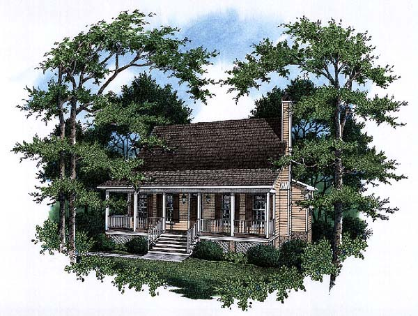 Country House Plan 93467 with 3 Beds, 3 Baths, 2 Car Garage Front Elevation