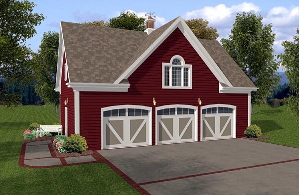 Country Traditional Garage Plan 93472 Elevation