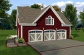 Plan Number 93472 - 750 Square Feet