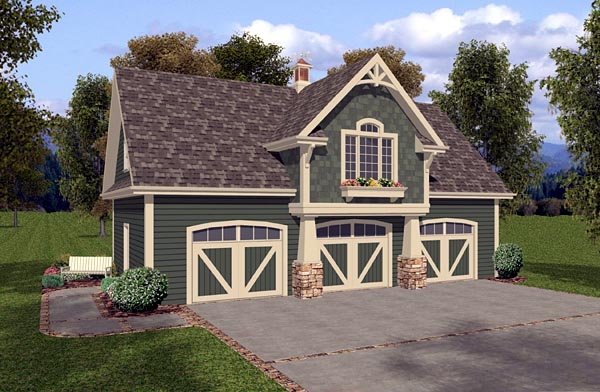 Garage Plan 93473 Elevation