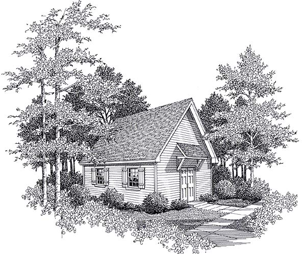 Cottage Elevation of Plan 93474