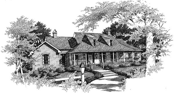 Country House Plan 93476 Elevation