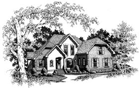Traditional Tudor House Plan 93478 Elevation