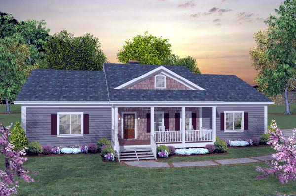 House Plan 93481 with 2 Beds, 3 Baths, 3 Car Garage Elevation