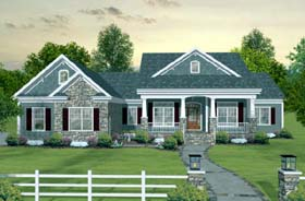 Craftsman European Traditional House Plan 93483 Elevation
