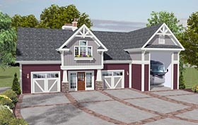 Craftsman Garage Plan 93485 Elevation