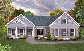 Ranch Traditional House Plan 93487 Elevation