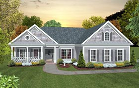 Ranch Traditional House Plan 93489 Elevation