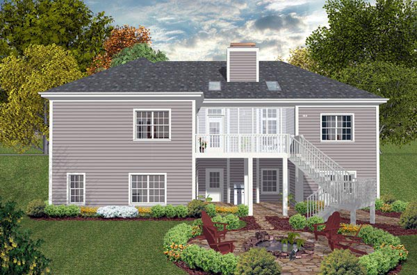 Ranch Traditional House Plan 93489 Rear Elevation