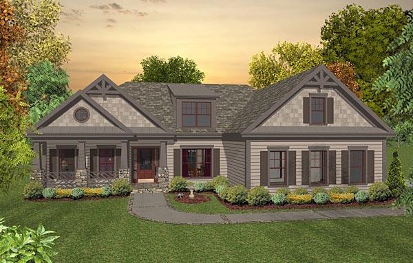 Cottage Craftsman House Plan 93490 Elevation