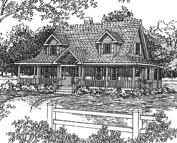 Country House Plan 94003 Elevation