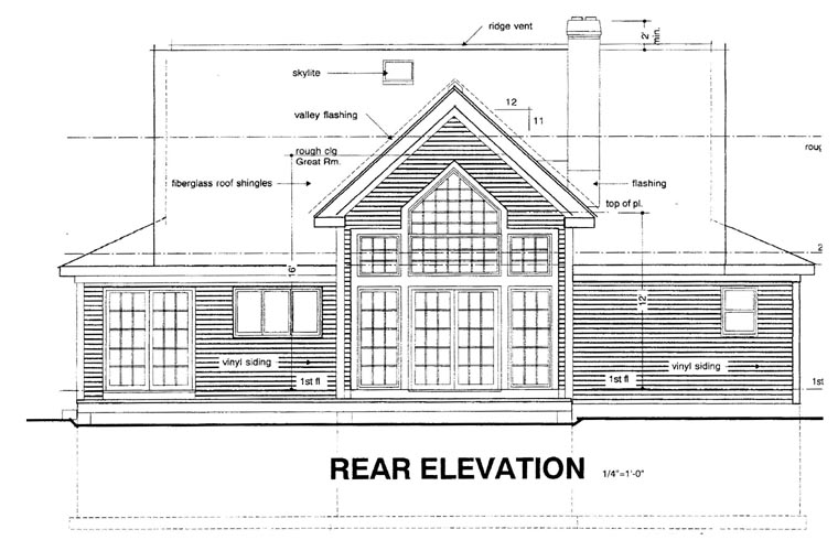 Country House Plan 94003 Rear Elevation