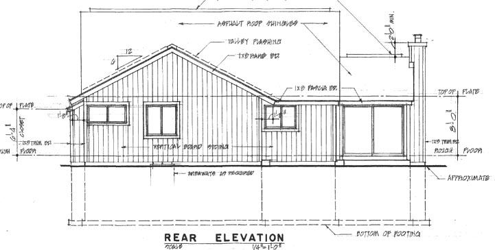 Contemporary House Plan 94011 Rear Elevation