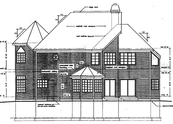 Contemporary Victorian House Plan 94017 Rear Elevation