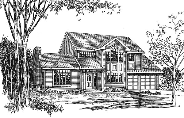 Contemporary Traditional House Plan 94020 Elevation