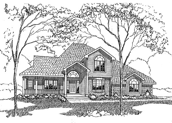 European Traditional House Plan 94021 Elevation