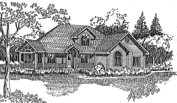 Country European House Plan 94022 Elevation