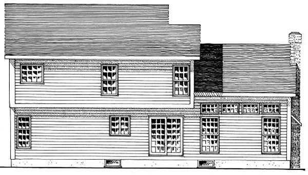 Country Southern House Plan 94100 Rear Elevation