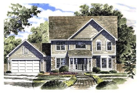 Country Southern House Plan 94102 Elevation