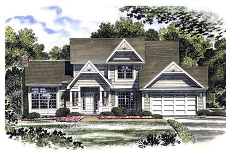Country House Plan 94106 Elevation