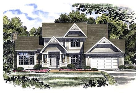 Country House Plan 94106 with 4 Beds, 3 Baths, 2 Car Garage Elevation