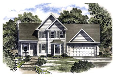 Country House Plan 94108 with 3 Beds, 3 Baths, 2 Car Garage Front Elevation