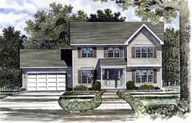 Country House Plan 94109 Elevation