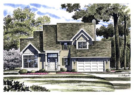 Country House Plan 94110 with 3 Beds, 3 Baths, 2 Car Garage Front Elevation