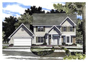 Colonial Country House Plan 94111 Elevation