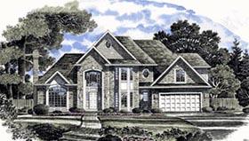 European House Plan 94112 Elevation