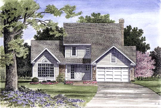 House Plan 94117 | Country Style Plan with 1658 Sq Ft, 3 Bedrooms, 3 Bathrooms, 2 Car Garage Elevation