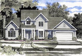 Country House Plan 94124 Elevation