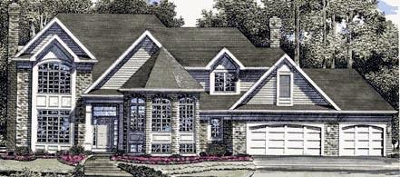 European Victorian House Plan 94125 Elevation