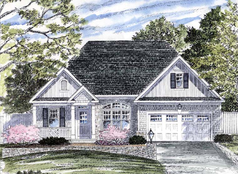 House Plan 94133 | Cape Cod Coastal Cottage Craftsman Ranch Style Plan with 1546 Sq Ft, 2 Bedrooms, 2 Bathrooms, 2 Car Garage Elevation