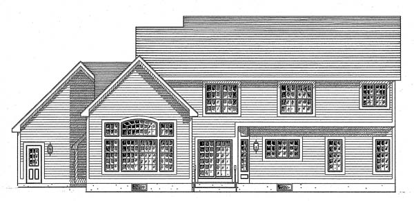 Colonial Country Southern House Plan 94137 Rear Elevation
