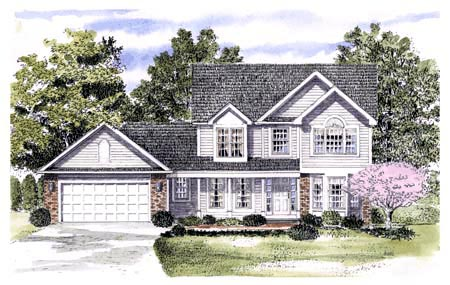 House Plan 94139 | Country Style House Plan with 1871 Sq Ft, 4 Bed, 3 Bath, 2 Car Garage Elevation