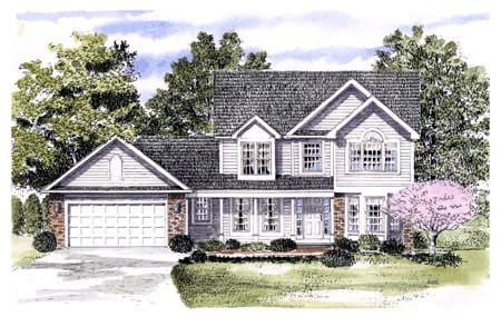 Country House Plan 94139 with 4 Beds, 3 Baths, 2 Car Garage Elevation