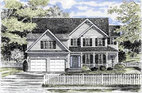Country House Plan 94140 Elevation